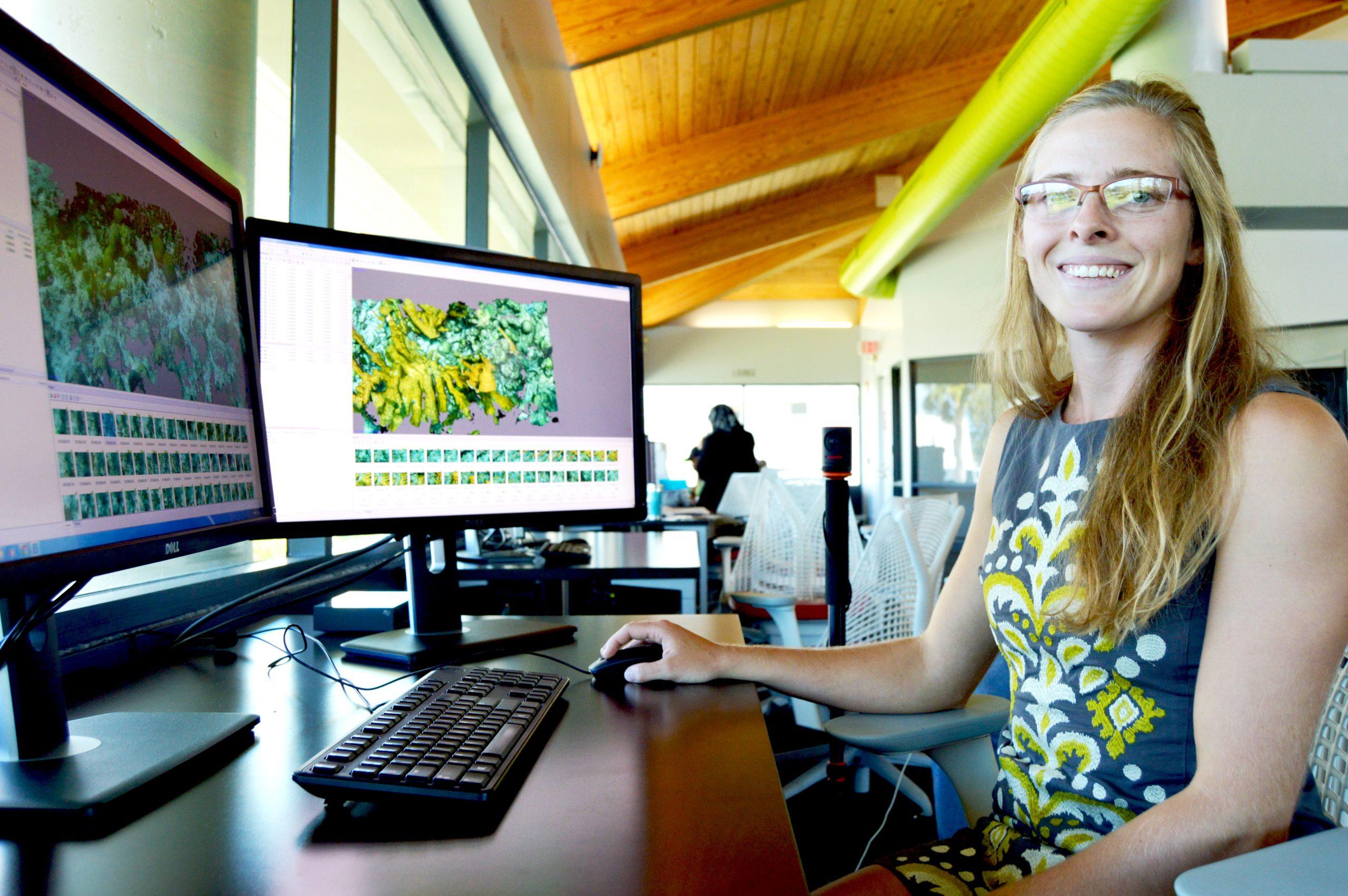 Liz Whitcher, a Florida Tech biological science graduate student