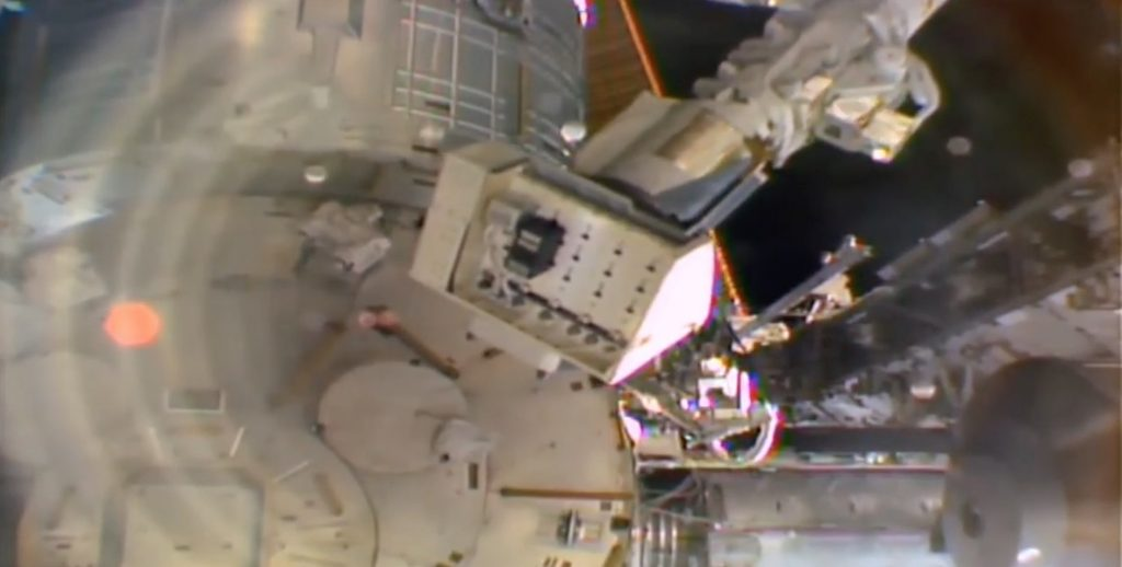 Photo of International Space Station Device Installed