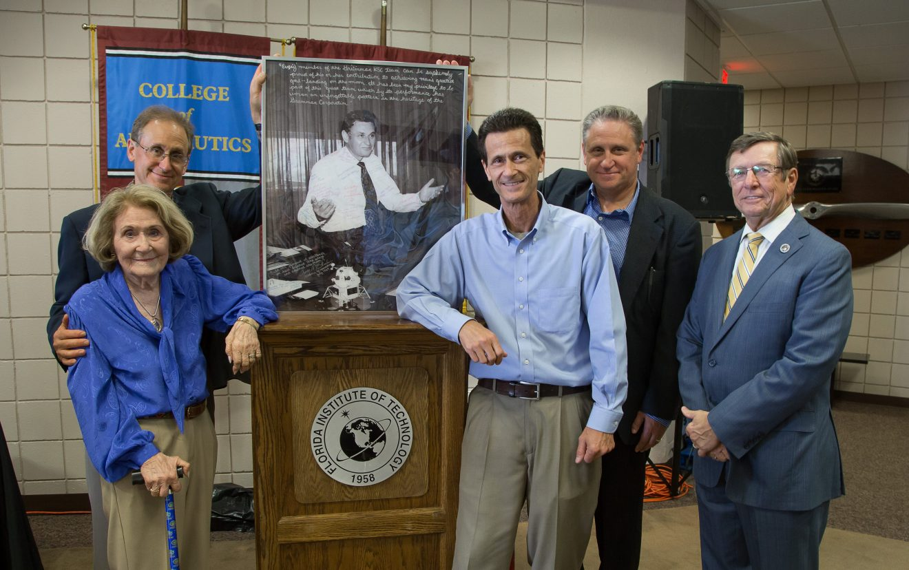 Photo of Grumman retirees honor Skurla, Florida Tech