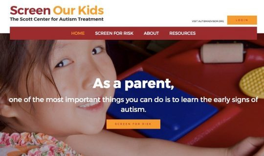 Photo of Scott Center for Autism Treatment Launches Online Screening Service
