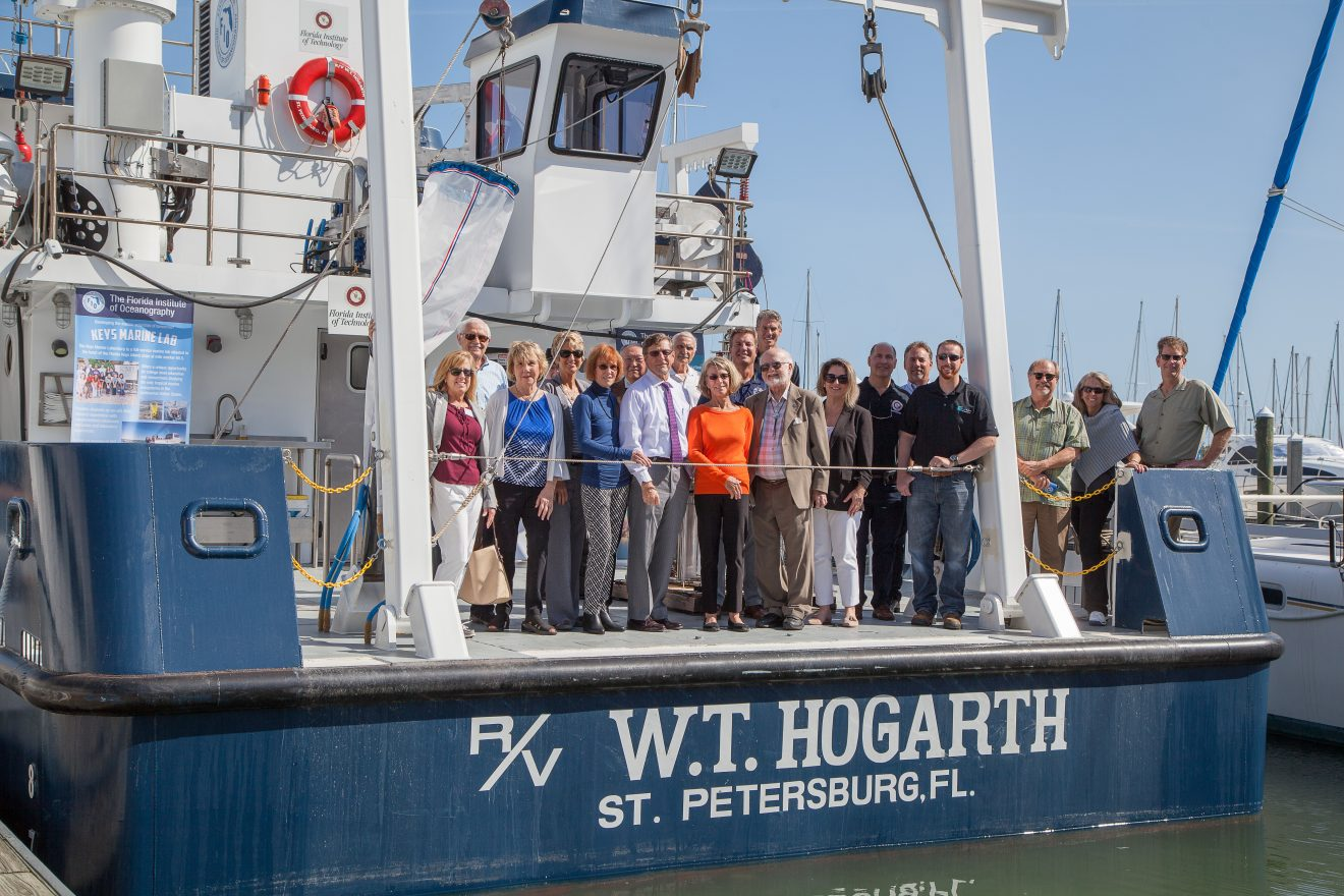 Photo of President, Public Visit Florida Tech-Sponsored Research Vessel