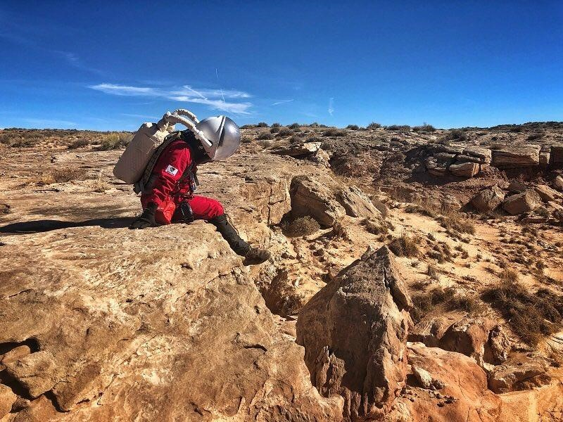 "Photo of Florida Tech Master's Student Goes to ""Mars"""