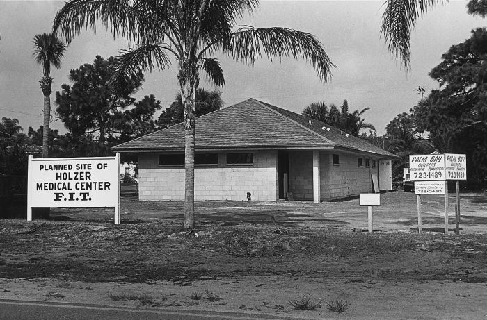 Photo of construction Site of O.A. Holzer Student Center in 1981.