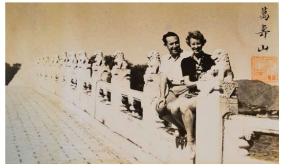 Photo of Oswald and Ruth Alice Holzer in 1940