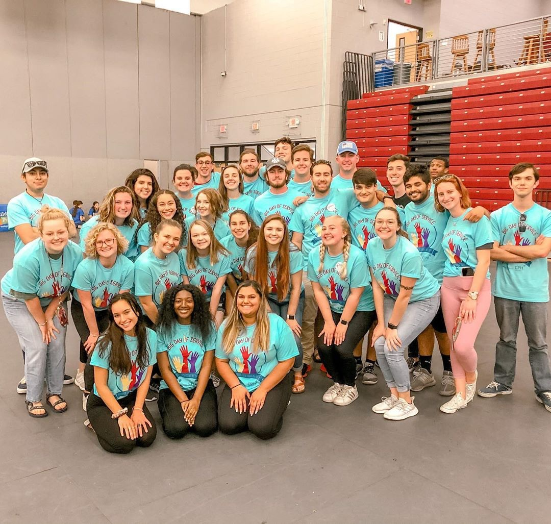 Florida Tech greek life members at Big Day of Service