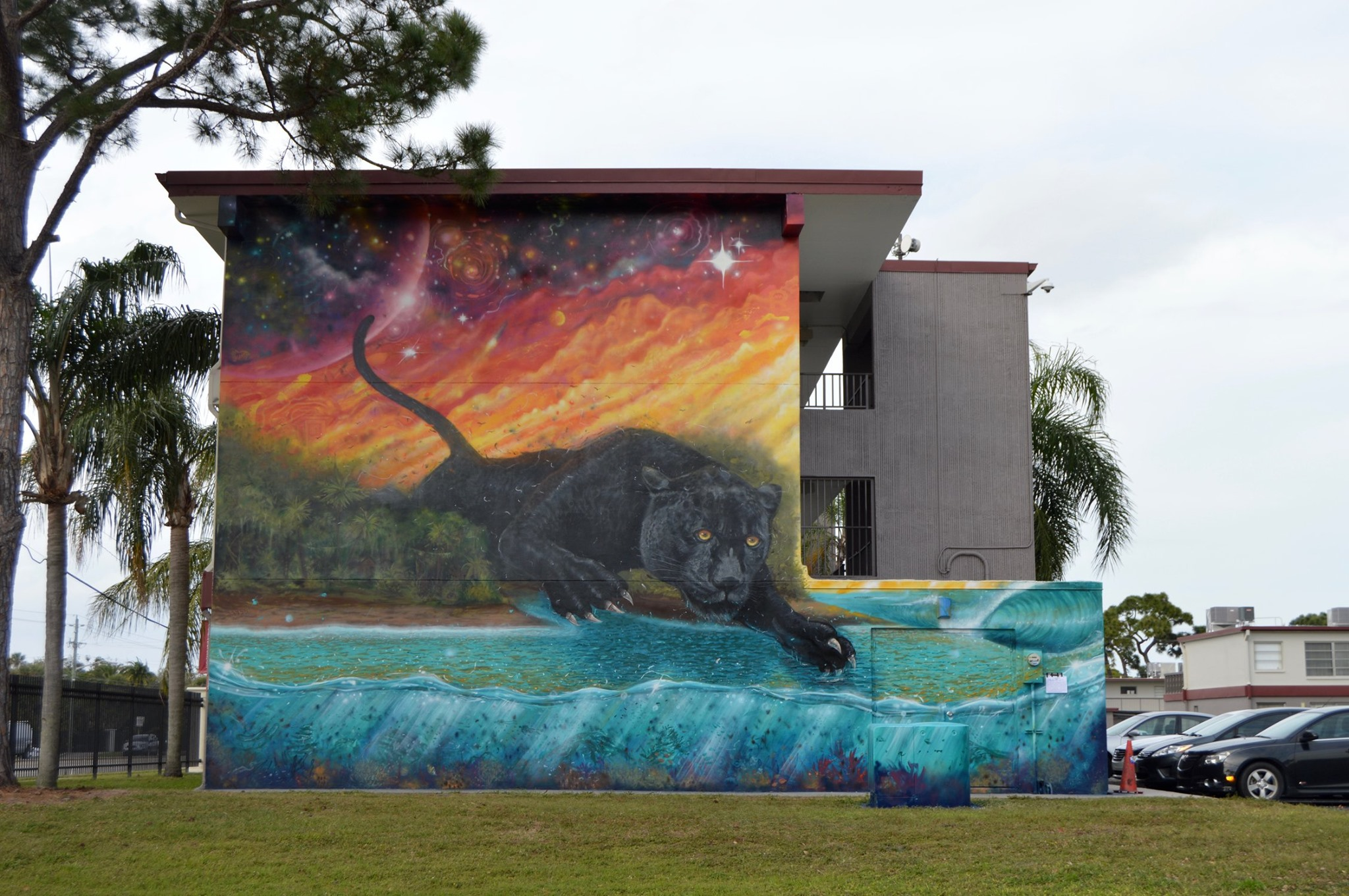Panther Mural on Florida Tech's Campus