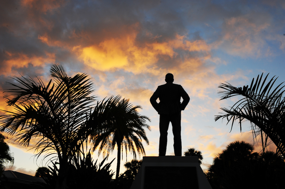 Keuper Statue on Florida Tech's campus