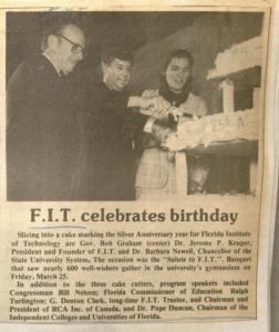 Florida Tech Celebrates Birthday