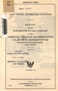 Subcommittee on NASA Oversight Report
