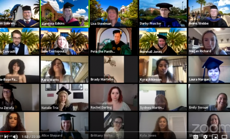 Photo of First Virtual Psychology Graduation