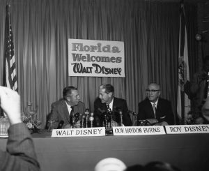 Press conference with Walt Disney