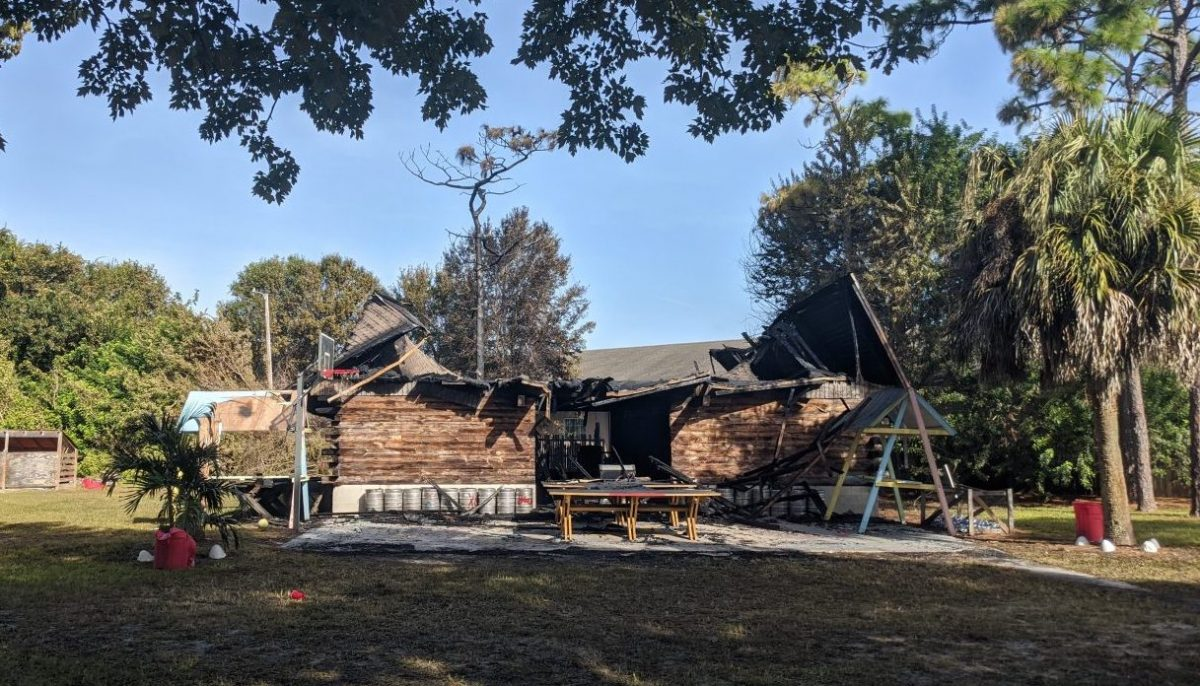 The Chi Phi barn after fire destroyed it.
