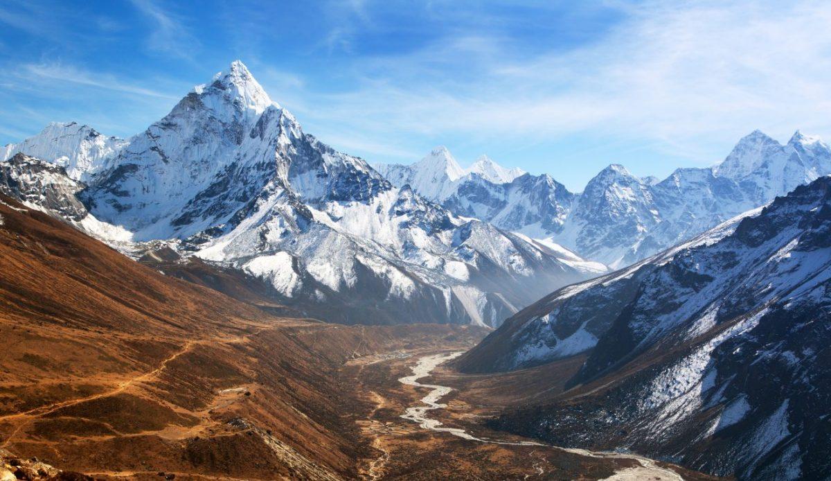 View of mount Ama Dablam, Khumbu valley, Sagarmatha national park, Everest area, Nepal