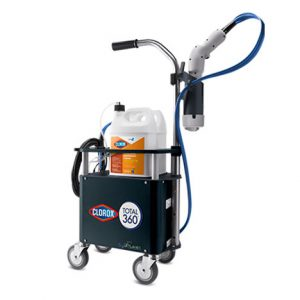 Electrostatic sprayer that the university will use to disinfect areas where a positive case of COVID-19 has been reported