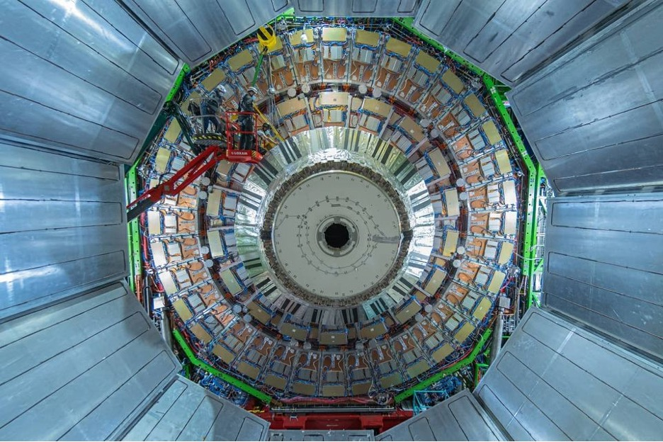 A picture of the front of the Large Hadron Collider in Geneva, Switzerland.