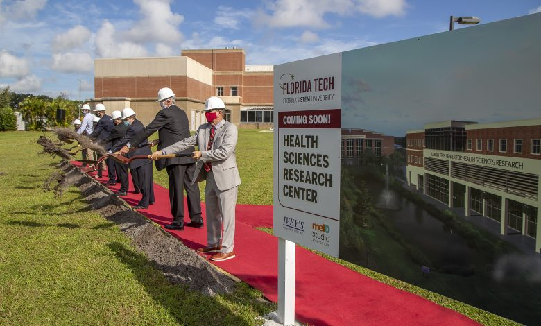 Photo of University Breaks Ground on Health Sciences Research Center