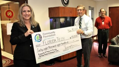 Photo of Community Foundation for Brevard Awards Grants to Florida Tech Researchers