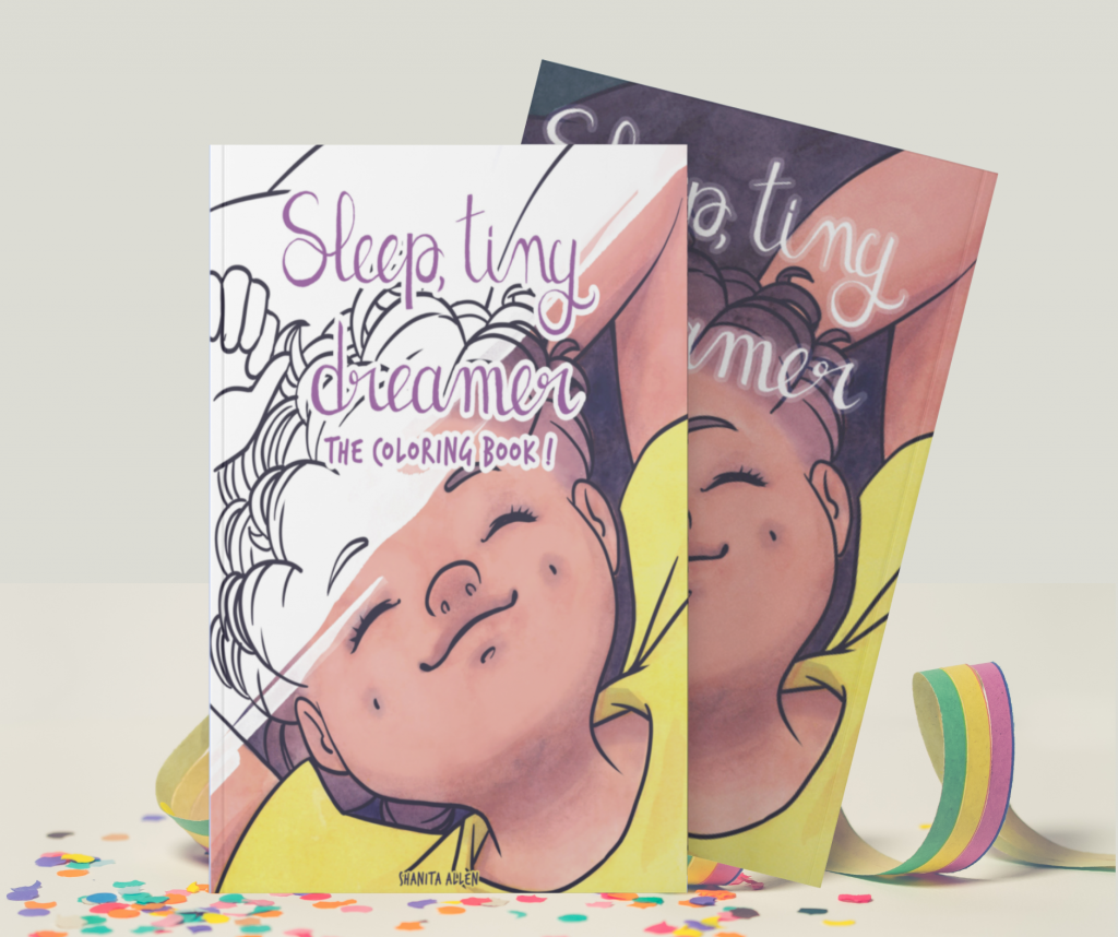 "cover of the book ""sleep, tiny dreamer by Shanita Allen."