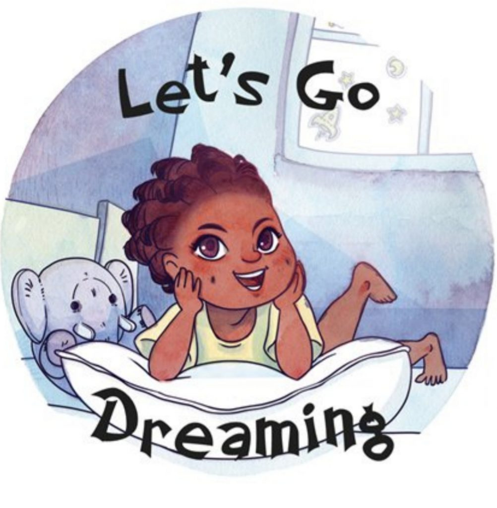 Let Go Dreaming children's book series logo.