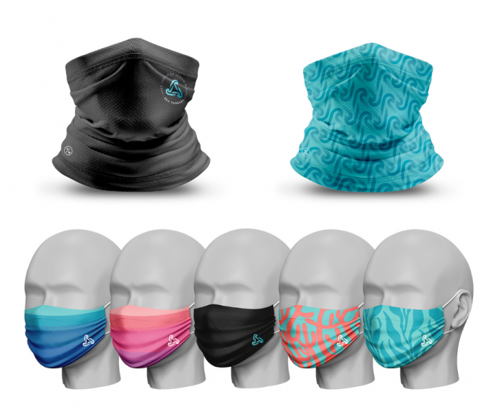 Gaiters and facemasks by Seathreads