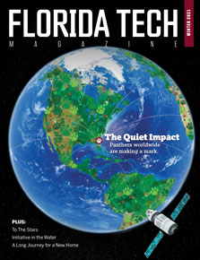 Cover of Florida Tech Magazine, Winter 2021 issue