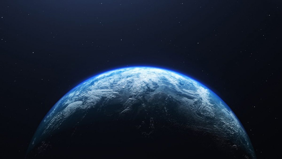 Earth planet viewed from space, 3d render of planet Earth.