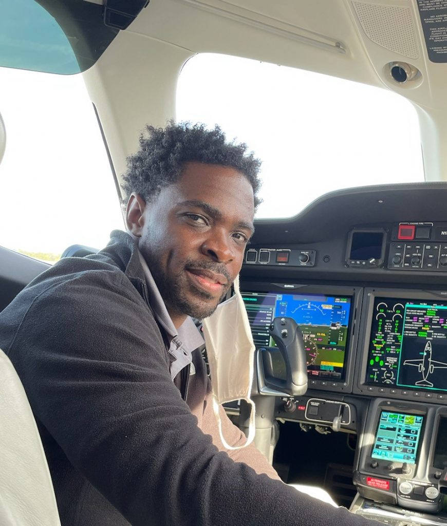 Ramone Hemphill Sr., project management MBA student and founder of the 99th Squadron, a nonprofit that teaches young people the fundamentals of aviation.