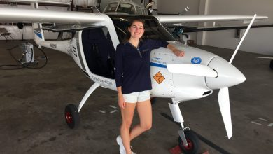 Photo of First-in-the-Nation Electric Plane Energizes Career Aspirations of Aerospace Engineering Student